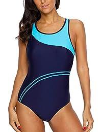 Women's Pro Athletic One Piece Swimsuit Racerback One...