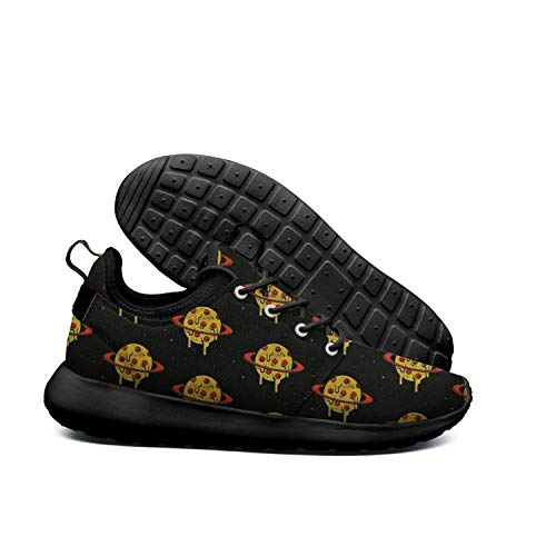 DEEEWKF Planet Star Late Night New York Pizza Mens 2018 Ultra Lighweight Sneakers -