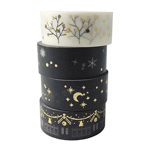 MOEUP 4pcs Washi Masking Tape product image