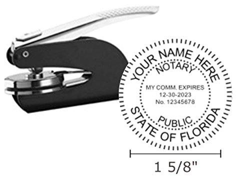 Pocket Seal Embosser - Florida Notary Seal Embosser, Pocket/Hand Model, 1-5/8