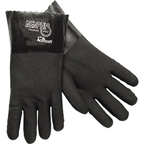 Supported PVC Gloves (Double Dipped, Sandy Finish, 12