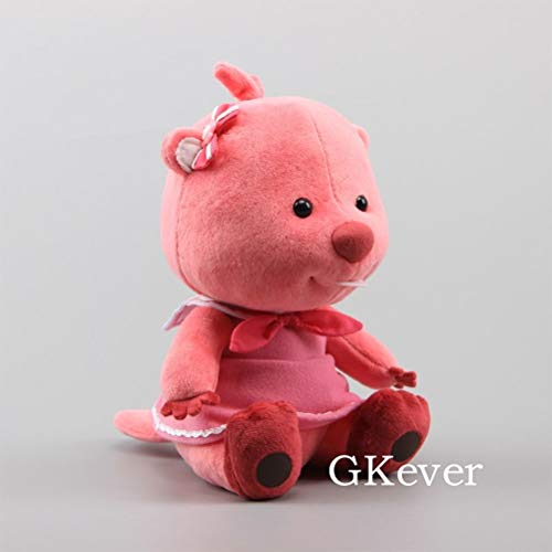 LQT Ltd Top Stuffed Animal Korea Pororo Beaver Loopy Plush Toy Doll Toys for Children Kawaii Stuffed Animals Dolls 23 cm 9'' Kids Gift Sitting -