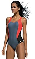 Damen Badeanzug Einteiliger Schwimmanzug Vorgeformte BH-Cups
