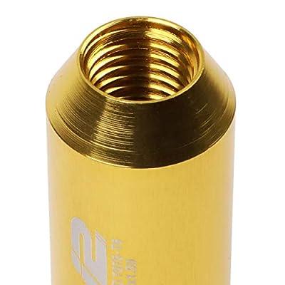 J2 Engineering LN-T7-010-15-GD Gold 7075 Aluminum M12X1.5 16Pcs L: 60mm Open End Lug Nut w/4Pcs Lock+Key: Automotive