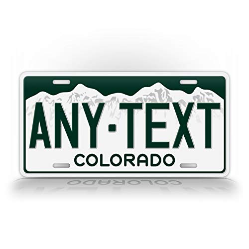 SignsAndTagsOnline Custom Colorado State License Plate CO Replica Personalized Text Novelty Auto - License Plate Tag Colorado