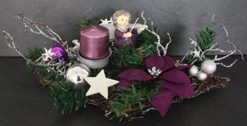 Weihnachtsdeko Lila.Amazon De Weihnachtsdeko Adventsdeko Lila Advent Deko Neu