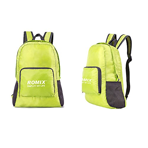Backpack Romix, Waterproof Back Pack for Travel, Sport, Mini Backpack, Backpack for Women, for Men (Green)