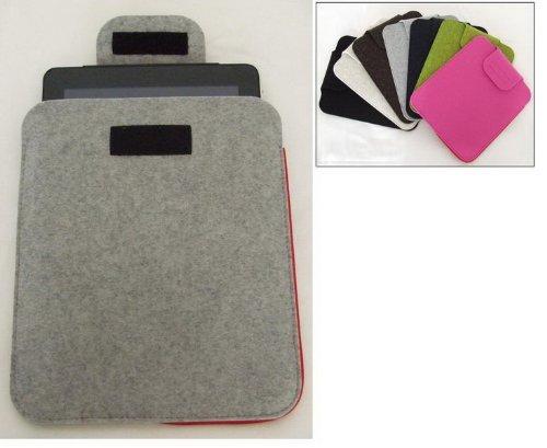 Tasche für iPad Filztasche mit Klett in hellgrau