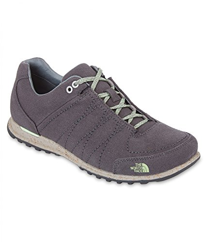 The North Face W Hedgehog Mountain Sneaker Canvas, Zapatillas de Deporte Exterior para Mujer Gris (Dark Shadow Grey / Paradise Green)