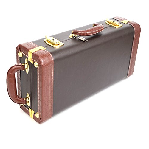 Joymee Leather Water-resistance Trumpet Gig Bag Case Box Carrying Lock Hard Foam Protective Durable