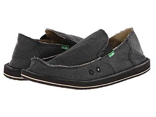 Vagabond Tripper Sanuk Men's on Charcoal Loafer Slip wFnExUqxfz