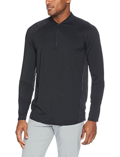 Under Armour Men's MK-1 1/4 Zip, Black/Stealth Gray, Large