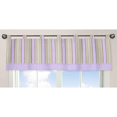 Mod Dots Collection Purple/Chocolate Window Curtain Valance