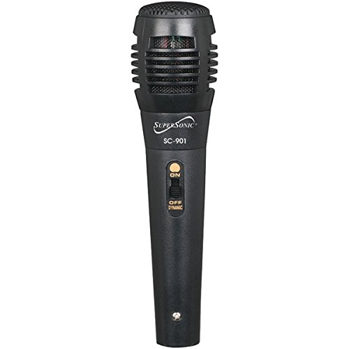 SuperSonic ProVoice Dynamic Vocal Professional Microphone, Black by Supersonic