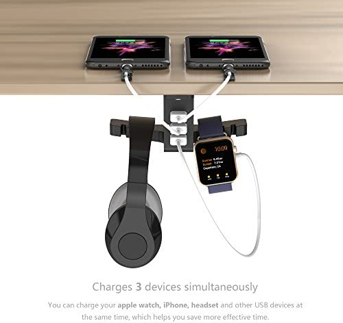 COZOO Headphone Stand with USB Charger 12