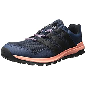 Adidas Performance Women's Slingshot Trail Women's Running Shoe,Mineral Blue/Black/Sun Glow Yellow,12 M US