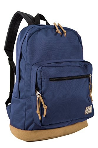 Everest Suede Bottom Daypack with Laptop Pocket Backpack, Navy, One Size