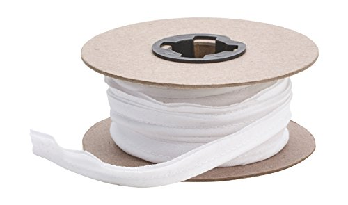 Pearl 1/2' Wide Broadcloth Cord Piping, 15 yd, White