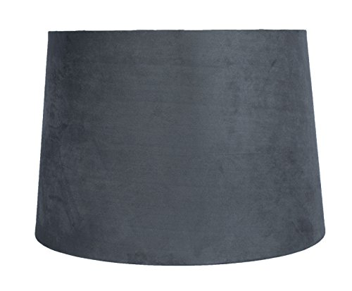 Urbanest Gray Suede Drum Lampshade, 12x14x10