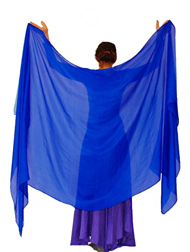 Nahari Silks 100% Silk Royal Blue 82""