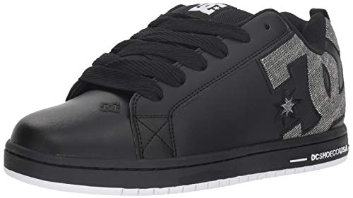 DC Men's Court Graffik Se Skate Shoe, Black/Grey, 8 D M US ()