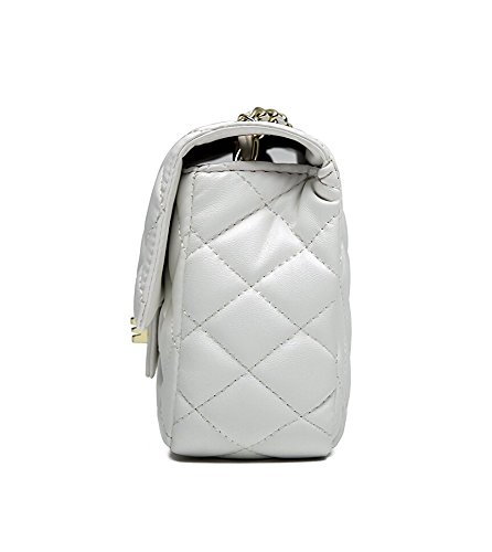 Evening by Cross Women White Mini Clutch Quilted 15 Bag Lady TOYU S Chain Gold Handbag 7cm Bag Shoulder Small Body Classic 20 4pfgw7xq