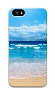 iPhone 5S Case Cover - Small Wave Custom Design Polycarbonate 3D Back Case Cover Compatible with iPhone 5S and iPhone 5