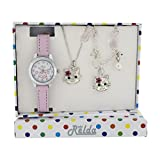 Relda Kids Kitten Jewellery & Watch, Necklace & Bracelet Girls Gift Set REL23