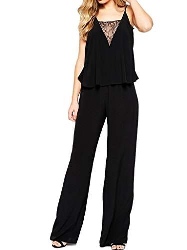Choies Womens Sleeveless Palazzo Jumpsuit