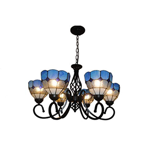 Chandelier Glass Tiffany Style E276 Flower Shape Paint Living Room 7045cm ()