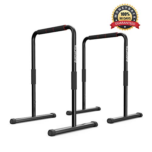 Yaumany Dip Stands-Fitness Parallette Dip Bars for Body Strenthener Pull-Ups, Push-Ups, L-Sits