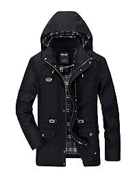 FreelyMen Freely Men's Oversize Fall Winter Mid Long Midi Washed Denim Jacket