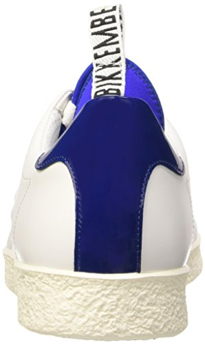 Bikkembergs Best 596 L.Shoe M Leather (with Socks), Sandalias con Plataforma para Hombre, Bianco Blanco (White/Blue)