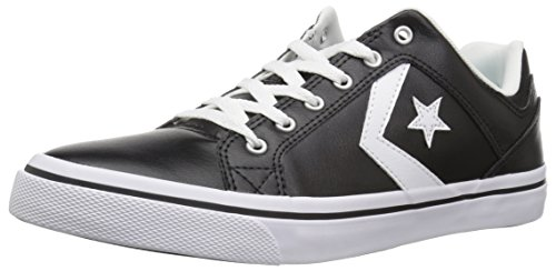 490e30abcf60 Converse EL Distrito Leather Low Top Sneaker Black White Black Size 5 M US