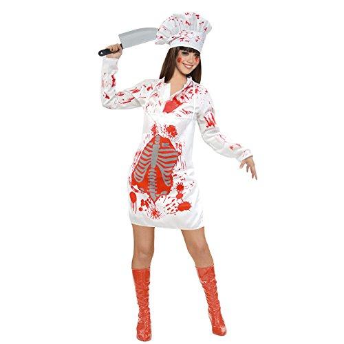 Partilandia Disfraz Zombie Cocinera para Mujer (S): Amazon.es ...