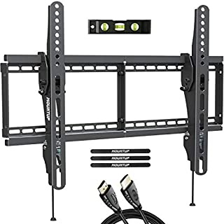 """MOUNTUP Tilting TV Wall Mount Bracket for Most 37-70 Inches TVs, TV Mount with 10 Degrees Smooth Tilt, Low Profile TV Wall Mount, Easy Install on 16"""", 18"""", 24"""" Studs Loading Capacity 110 lbs MU0008"""