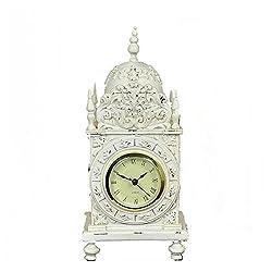 Retro Desk Clock Decoration, Luxury Simple Mute Clock,DXNSPF Home Living Room Decoration Desk Clock, 10.64.9Inch , red