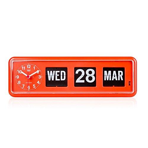 twemco Homeloo x German Quartz Retro Modern Calendar Wall Flip Clock BQ 38 ()