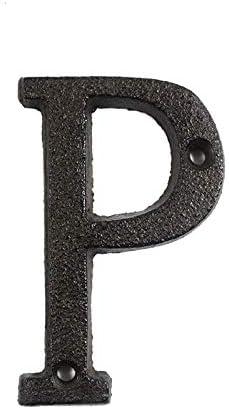 Teekit N/úmeros de Letras de Metal Hierro Fundido Decoraci/ón Casa Signo Placa de Puerta DIY Caf/é Pared