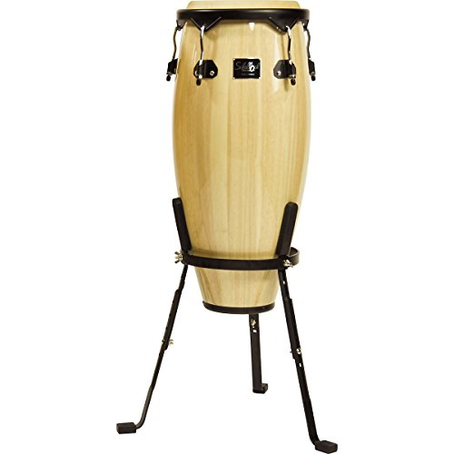 Schalloch Percussion 50.010NT 10-Inch Wood Conga with Stand, Natural