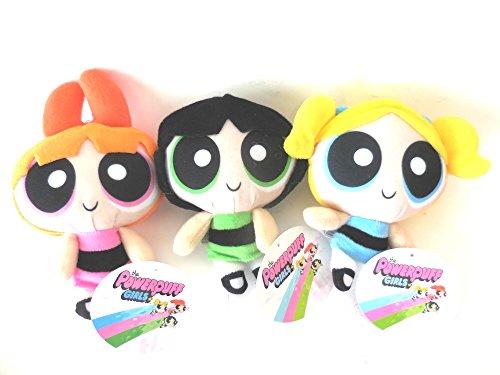 "Powerpuff Girls Orange Blossom, Bubbles, Buttercup 8"" Plush Doll Stuffed Toy"