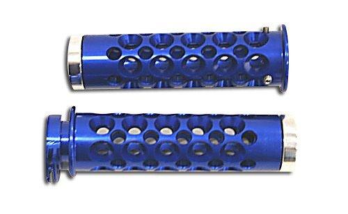 Yana Shiki A3006BU Blue Holes Design Grip with Flat End Caps