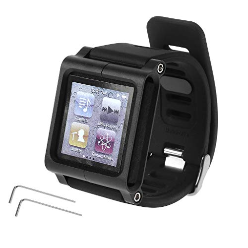 Mp3 Player Quartz Watch - JAGENIE Smart Aluminum Metal Watch Band Wrist Kit Cover Case for Apple iPod Nano 6 6th