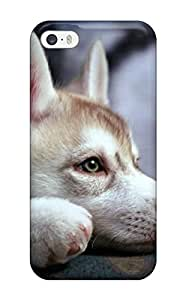 Special Gwenda Cromer Skin Case Cover For Iphone 5/5s, Popular Husky Puppy Phone Case