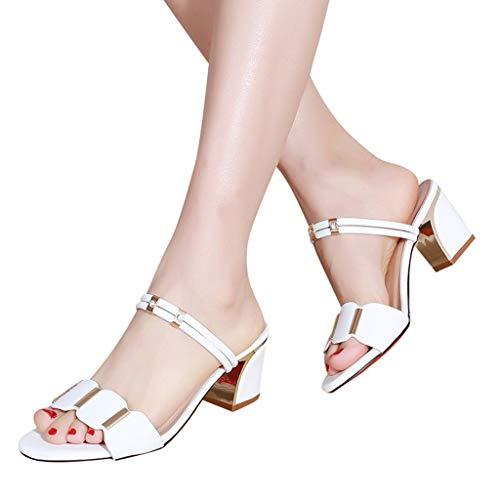 Mujer Blanco Bailarinas Para De Sintético Lmryjq vqAOw
