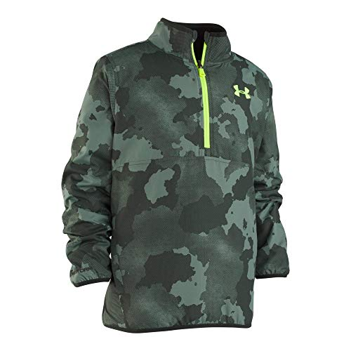 Under Armour Boys' Big Cloudspin Reversible 1/4 Zip, Moss Green, Large (14/16)