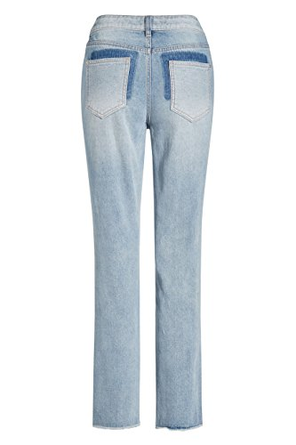 next Mujer Vaqueros Sueltos Con Paneles Alto Pantalones Ropa De Abajo Azul Claro
