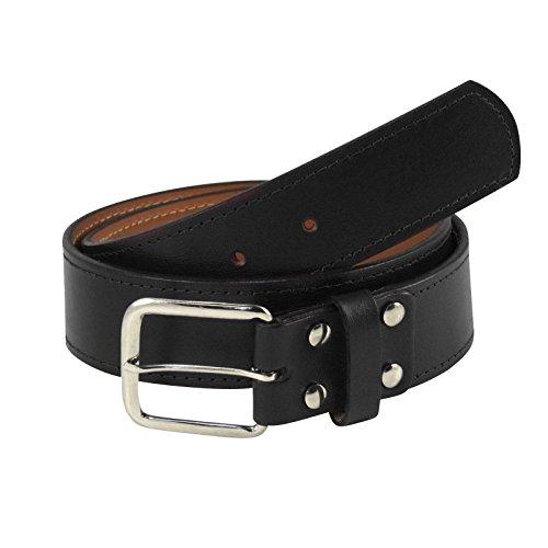 TCK Leather Belts Sized 30-44 - Baseball, Fastpitch, Softball - NEW (Black, Waist 42)