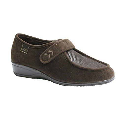 Schuhe mit Klettverschluss sehr empfindliche Füße Doctor Cutillas braun Braun