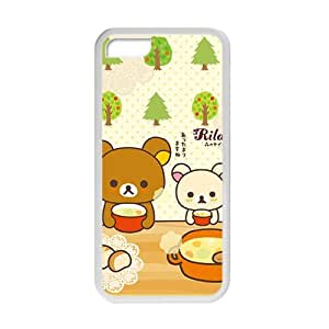 Cute bear drink soup personalized creative custom protective phone case for Iphone 5/5s
